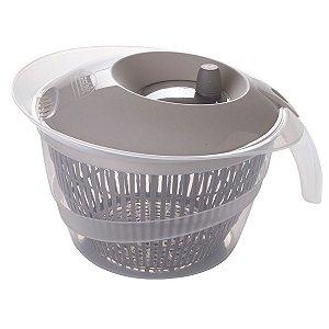 Secador de Salada de Plástico 4 L Manual com Cesto para Escorrer