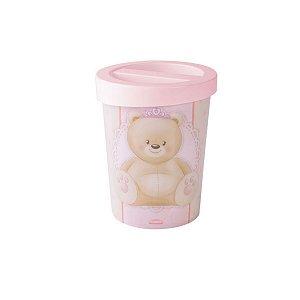 Porta Cotonetes de Plástico Ursa