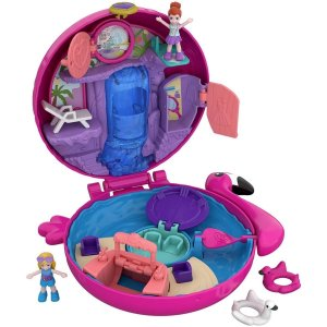 Boneca Polly Pocket Mini Mundo de Aventura Piscina do Flamingo