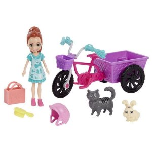 Polly Pocket - Bicicleta Aventura com Bichinho
