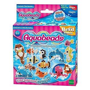 Brinquedo Aquabeads Novo Conjunto Vida Marinha
