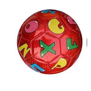 Mini Bola De Futebol Letras Vermelha