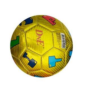 Mini Bola De Futebol Letras Amarela