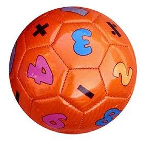 Mini Bola De Futebol Números Laranja