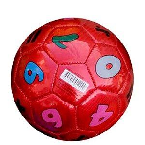 Mini Bola De Futebol Números Vermelha