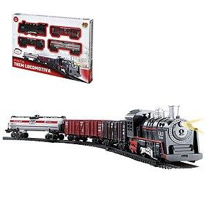 Trem Locomotiva Pista com Luz e Som