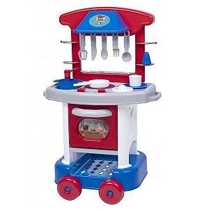 Cozinha Infantil Play Time Acessórios Cotiplás - Vermelho