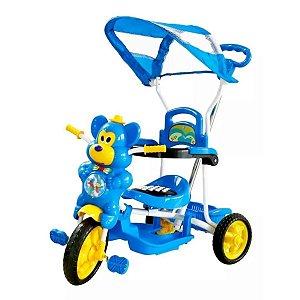Triciclo Ursinho Passeio Divertido Azul