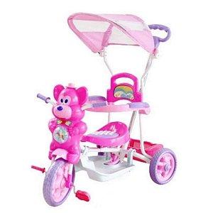 Triciclo Ursinho Passeio Divertido Rosa