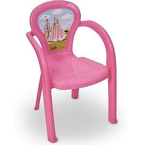 Cadeira Infantil Decorada De Plástico Usual Plastic - Modelo Princesa