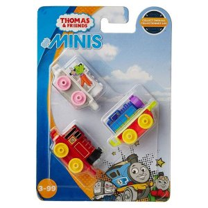 Pack c/3 Cenoura Mini Locomotiva Thomas - Mattel