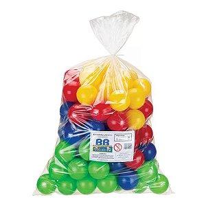 Bolinha Para Piscina Colorida Com 100Un - BB Bolinhas