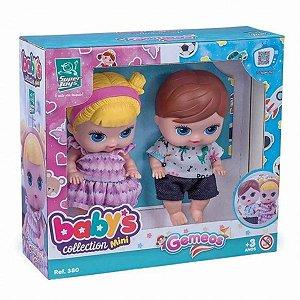 Bonecos Gêmeos Mini Menino e Menina  - Super Toys