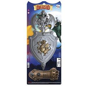 Kit Cavaleiro Dragão Com Luva