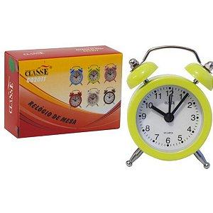 Relógio de Mesa Despertador Sineta Cores Sortidas