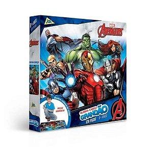 Quebra Cabeça Grandão com 120 peças Avengers Toyster