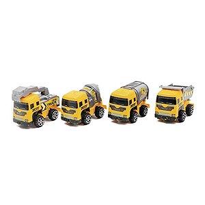 Caminhão Truck Construção 4 Carros