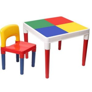 Mesinha Colorida Com 1 Cadeira