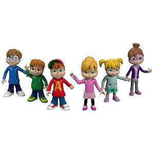 Conjunto 6 Mini Figuras Alvin E Os Esquilos - Mattel