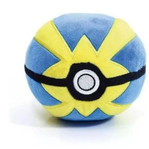 Pokébola Pokémon: Quick Ball Pelúcia 11cm - Pokéball Tomy