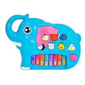 Tecladinho Divertido Elefante Azul