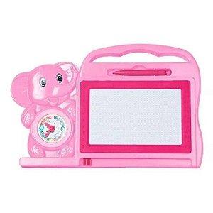 Quadro Lousa Magico Infantil Educativo - Rosa - Dm Toys