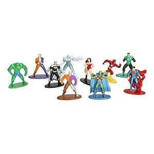 Bonecos Nano Metalfigs DC Pack B com 10 Unidades