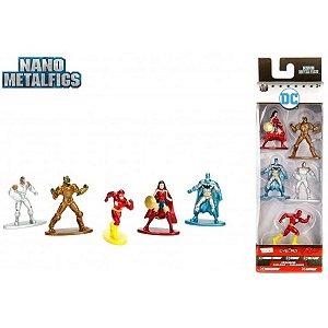 Conjunto De 5 Mini Figuras - 5 Cm - Nano Metal - DC