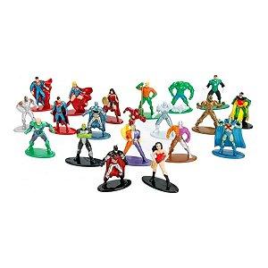 Bonecos Dc - Nano Metalfigs Pack Com 20 Figuras