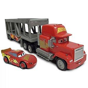 Carros Disney Veiculo Caminhao Mack Cegonha e McQueen - Toyng