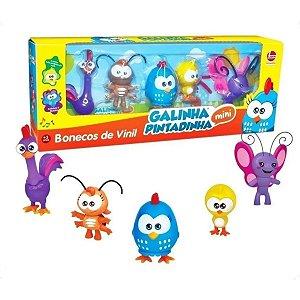 Mini Bonecos De Vinil Galinha Pintadinha Com 5