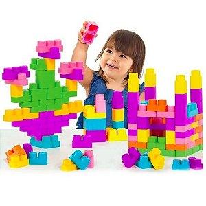 Blocos De Montar Baby Land Block Box 90 - Cardoso Toys