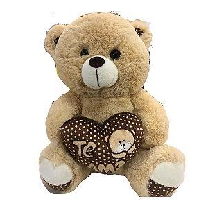 Urso de Pelúcia Com almofada Eu te amo 28 cm