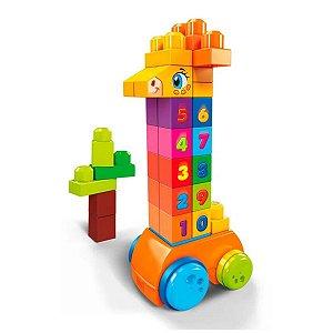 Girafa Conta e Brinca - 30 peças - Mega Bloks - Mattel