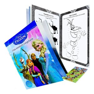Livro De História Frozen E Atividade Disney - Dcl
