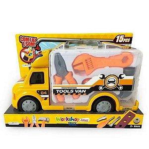Caminhão De Conserto Workshop Truck Com Som E Luz