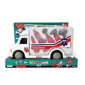 Ambulância Worshop Truck Com Luz E Som