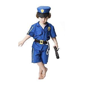 Fantasia Infantil Policial Com Quepe, Algema