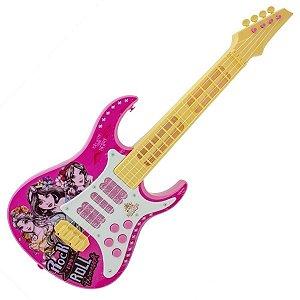 Guitarra Princesas Disney com Luz Rosa - Toyng