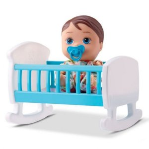 Boneca Com Bercinho Menino Little Dolls - Divertoys