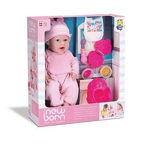 Boneca New Born Come E Faz Caquinha - Diver Toys