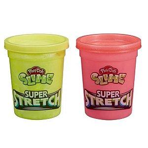Play Doh Slime Super Stretch Rosa E Amarelo