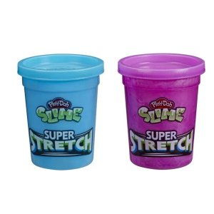 Play Doh Slime Super Strech Azul E Roxo