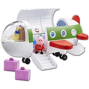 Avião Da Peppa Pig 27 Cm C/ 1 Boneco Articulado - Sunny