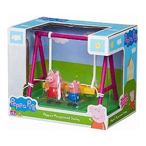 Peppa Pig Parquinho Balanço Peppa e George Articulados Sunny