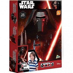 Quebra-Cabeça Quadrão Star Wars 120 Peças