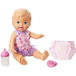 Boneca Little Mommy Bebê Hora de Fazer Xixi Loira - Mattel