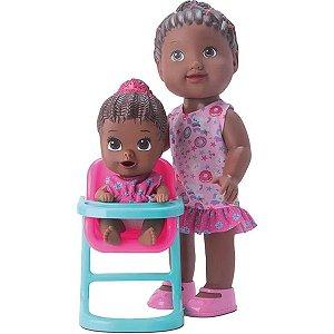 Boneca My Little Hora Da Papinha Negra - Diver Toys