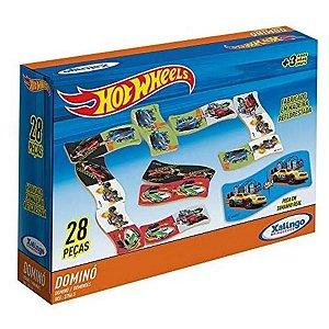 Jogo De Dominó Hot Wheels 28 peças em madeira - Xalingo