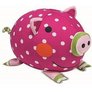 Pelúcia Almofada Porco Pink Buba